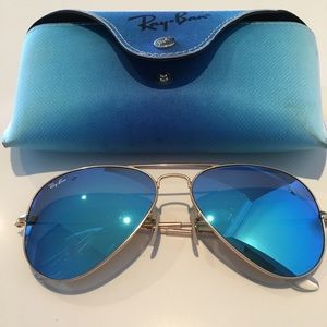 Ray-Ban Accessories - 💥RAY BAN💥Blue Aviators